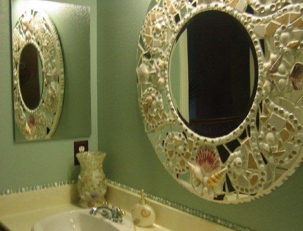 Как декорировать рамку для зеркала своими руками