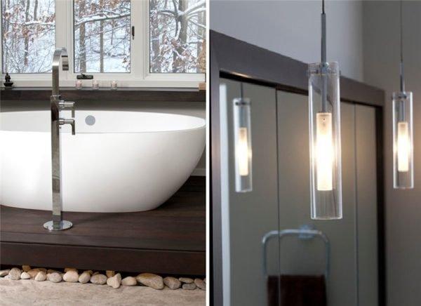 Пьедестал для ванны и светильники