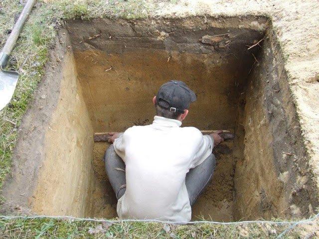 Как сделать яму для туалета фото