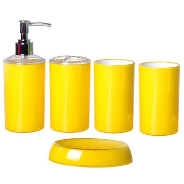 Полный набор банных принадлежностей в жёлтом колере