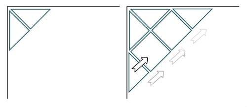 При диагональной укладке необходимо подрезать большое количество деталей.