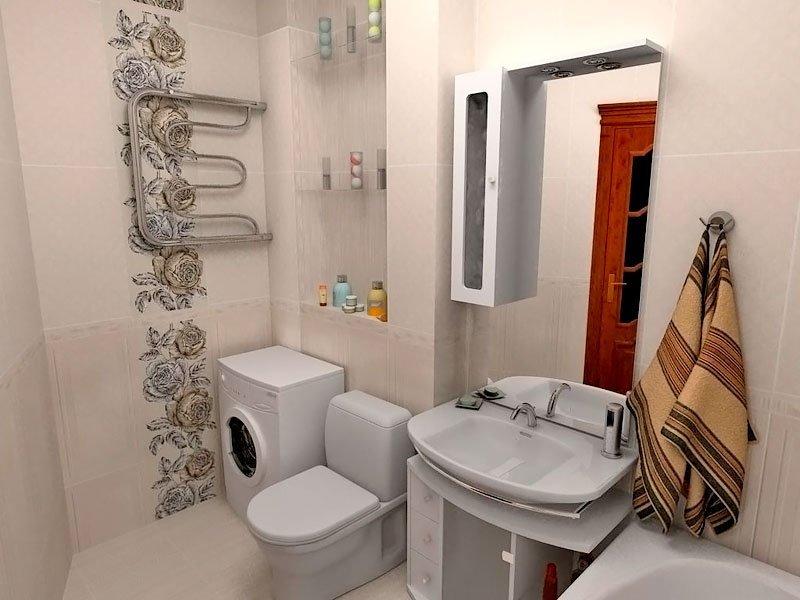 Ванная с санузлом в хрущевке и дизайн