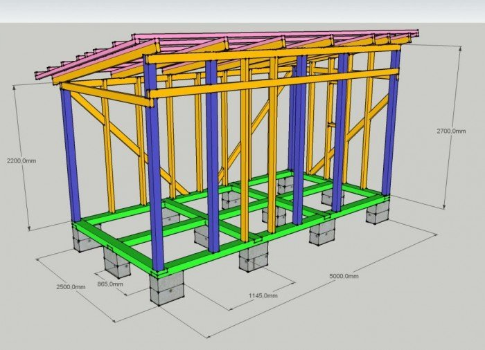 Хозблок с туалетом, дровником, душем и другими постройками под одной крышей: видео и фото Obustroeno.Com