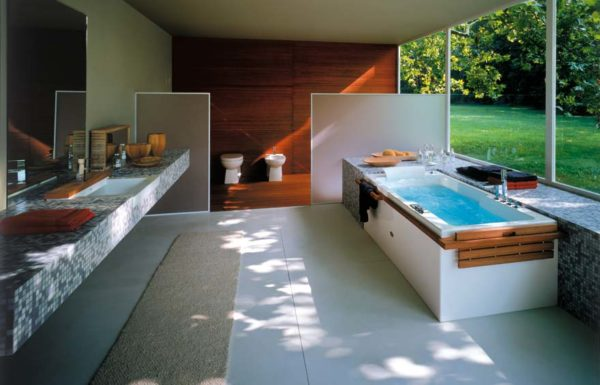 Пример прямоугольной гидромассажной ванны