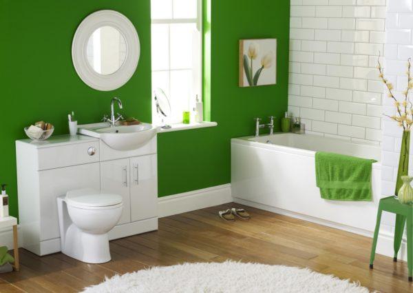 Пример того, как с помощью цвета создать модную ванную