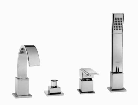 Пример врезного смесителя для ванны