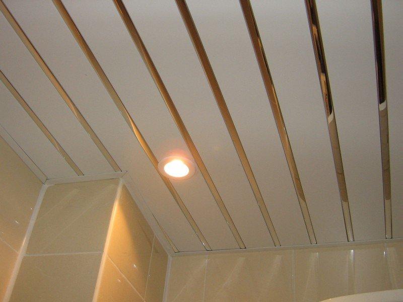 Реечные потолки для ванной комнаты дизайн