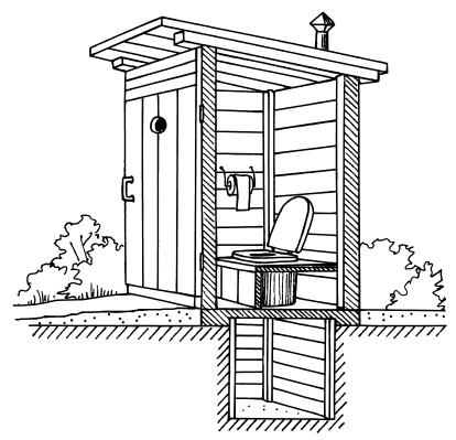 Деревенский туалет для дома и улицы: 2 с половиной вида конструкций |  Дневники ремонта obustroeno.club