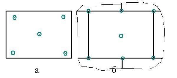 Схема крепления пенопласта дюбелями.
