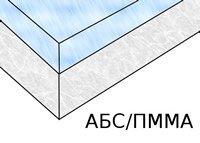 Схематичное изображение композитной акриловой ванны.