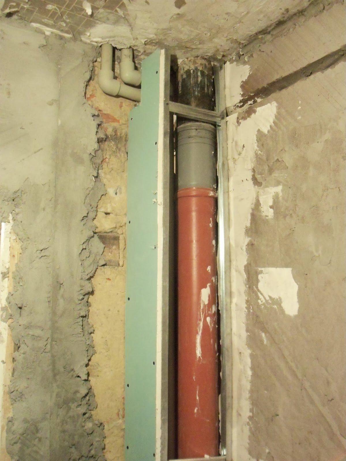 Как спрятать трубы на кухне вдоль стены | 1600x1200