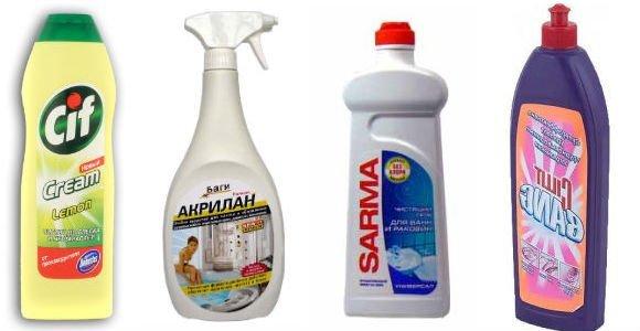 Составы для чистки акриловых поверхностей