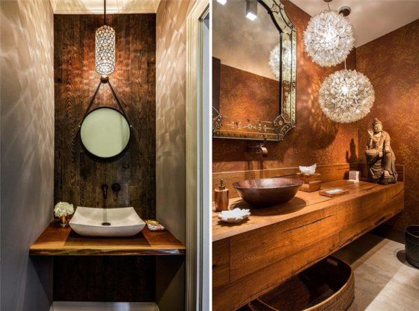 Светильники, отбрасывающие тени, подходят только для зеркал с минимальным утилитарным функционалом