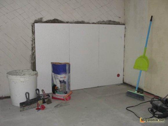 Как самим утеплить стены пенопластом внутри дома