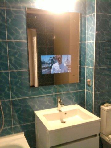 Теперь можно смотреть телевизор и в ванной
