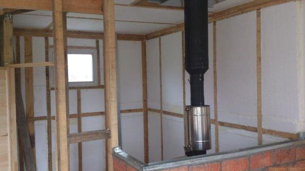 Теплоизоляция стен бани из газобетона изнутри пенопластом