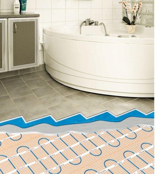 Теплый пол в ванной под плитку позволит повысить комфорт в помещении.