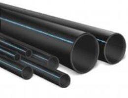 Трубные изделия из полипропилена чёрного цвета
