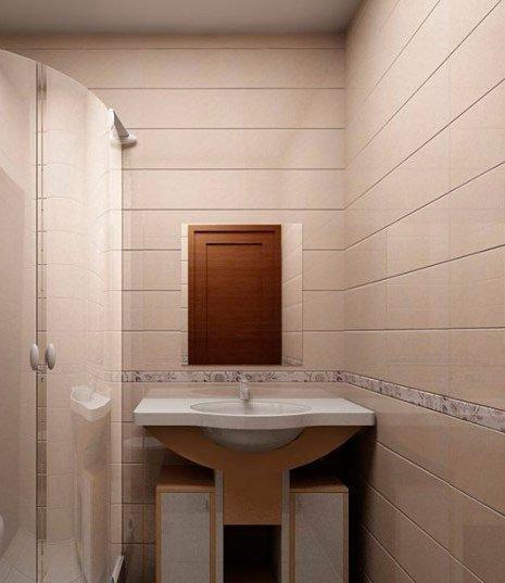 Ванная, отделанная стеновыми панелями.