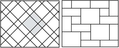 Возможные варианты модульной укладки плитки.