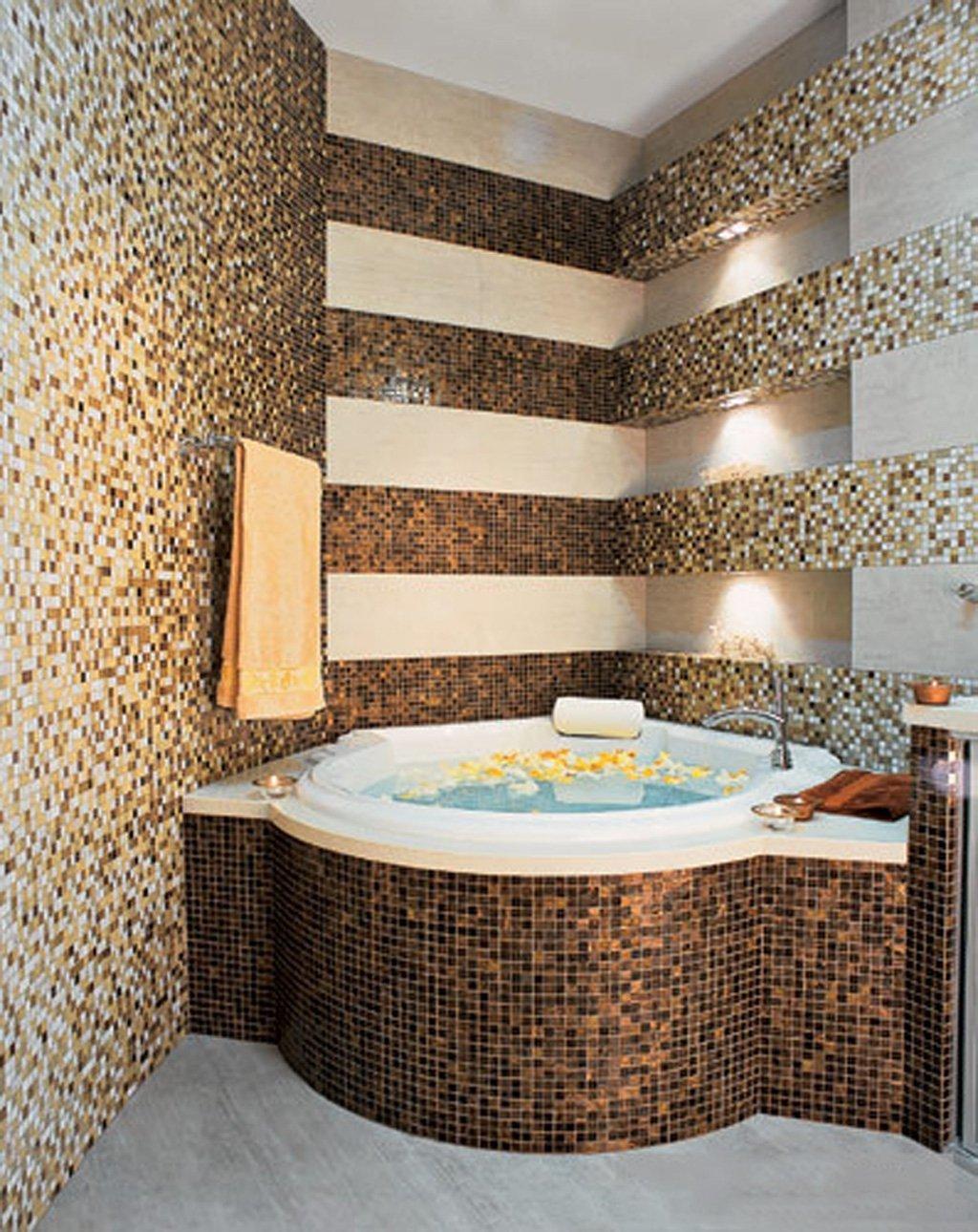 Ремонт в ванной комнате мозаикой