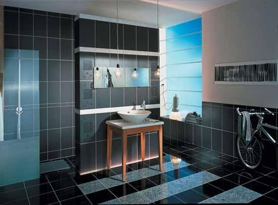 Зрительно увеличить высоту помещения помогают плитки, уложенные вертикально.