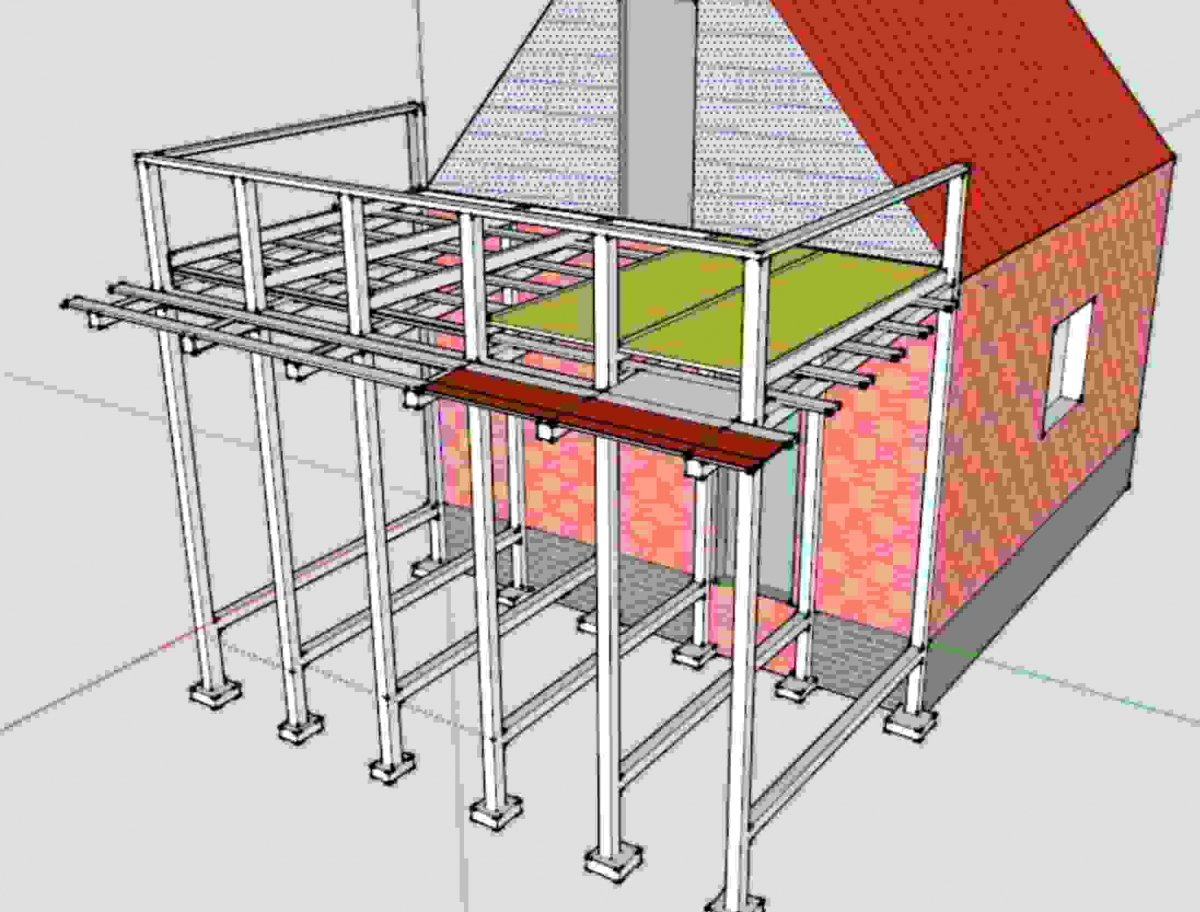 Строительство балкона на даче своими руками.