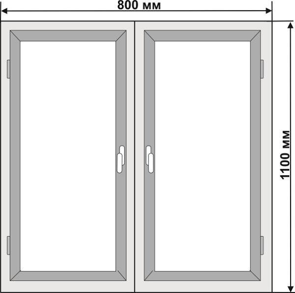 Чертёж алюминиевой тумбочки с двумя дверками
