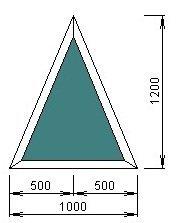 Чертёж модели, обладающей размерами 1200 на 1000 мм