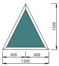 Чертёж модели, обладающей размерами 1200 на 1200 мм