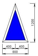 Чертёж модели, обладающей размерами 1200 на 800 мм