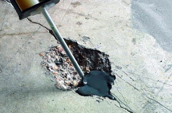 Дефекты бетонной плиты нужно устранить.