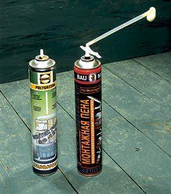 Для герметизации швов можно использовать монтажную пену.