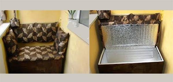 Диван на балкон с ящиком: 4 способа изготовления obustroeno..