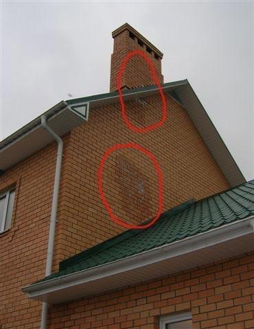 Дымоход на частном доме.