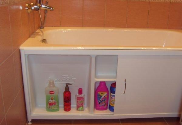 Экран-шкафчик для ванны