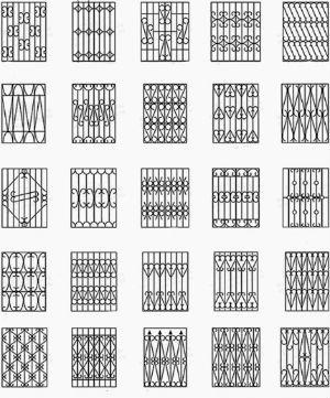 Эскизы решеток на окна, изготавливаемых с помощью сварочника