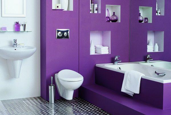 Фиолетовый – смелое решение для желающих избавиться от стрессов.