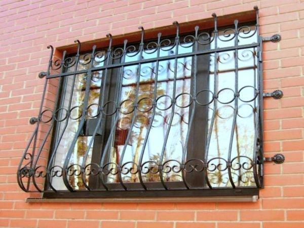 Фото кованой решётки, установленной на окно