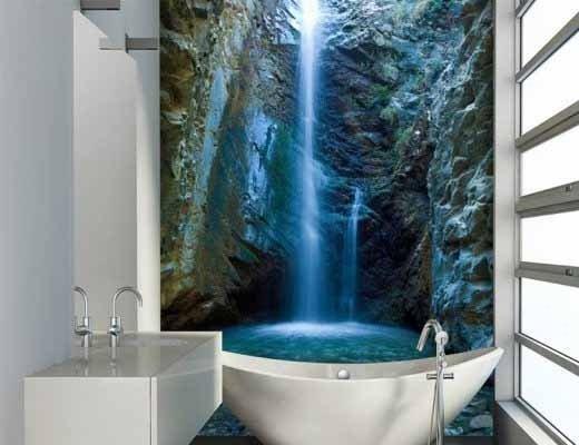 Фотообои – еще один способ сделать ванну поистине уникальной.