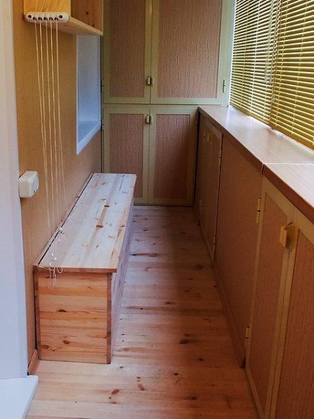 Скамья с ящиком для балкона своими руками 292