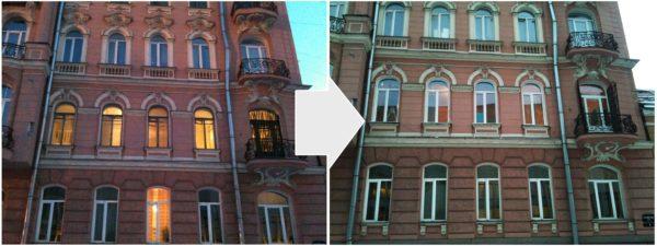 Характерная форма окон для старого жилищного фонда.