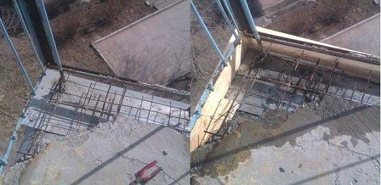 Иногда для ремонта основания приходится делать опалубку, которую затем нужно залить бетоном