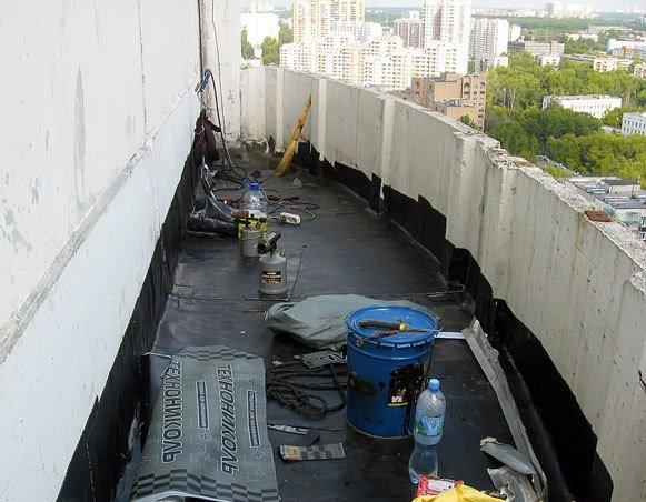 Использование рулонных материалов в гидроизоляционных работах