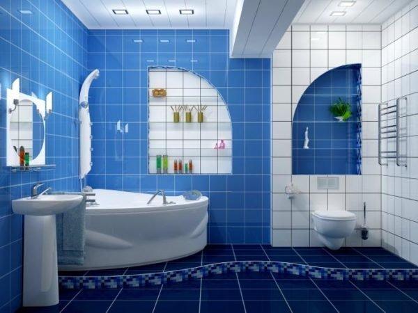 Кафель – классика в оформлении ванных комнат.
