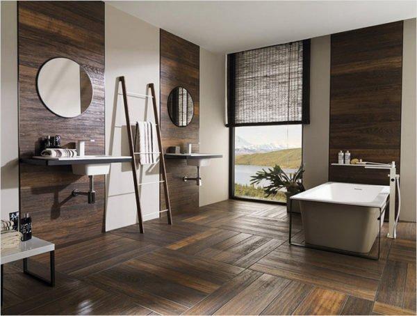 Кафель, имитирующий деревянные панели