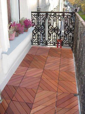 Керамическая плитка отлично подойдет для открытых балконов