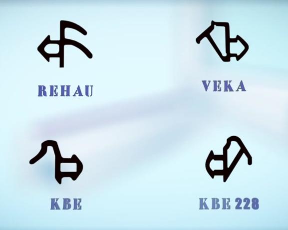 Резинки для пластиковых окон вида материалов com Конфигурация резинок у разных производителей профиля