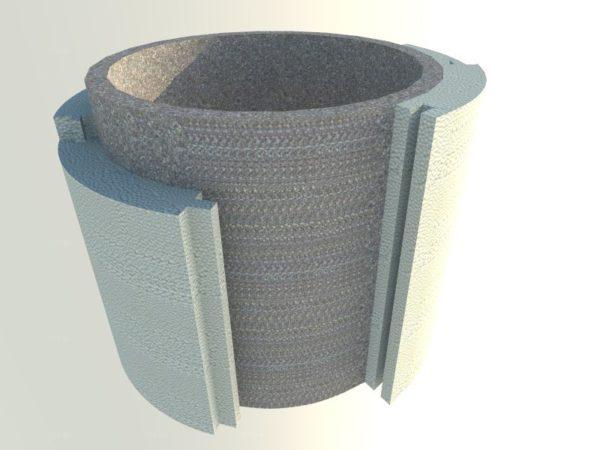 Конструкция полистирольной скорлупы