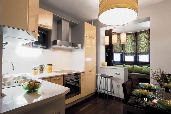 Кухня с балконом совмещенная фото форум..